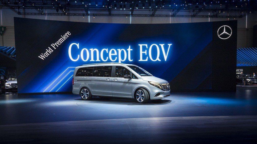Mercedes-Benz Concept EQV在2019日內瓦車展首發。 摘...