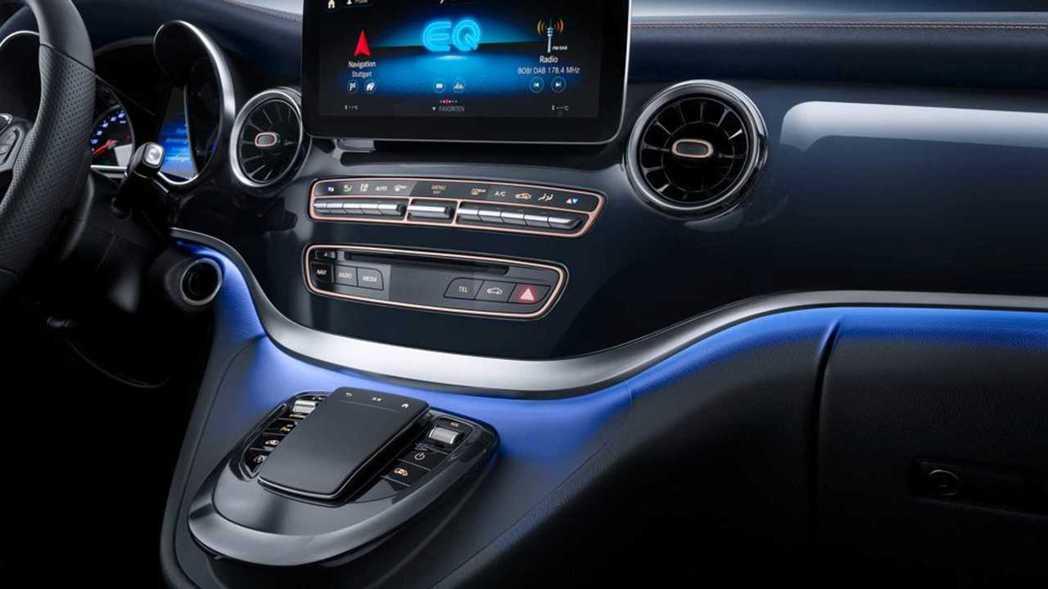 Mercedes-Benz Concept EQV 內裝。 摘自Mercedes...