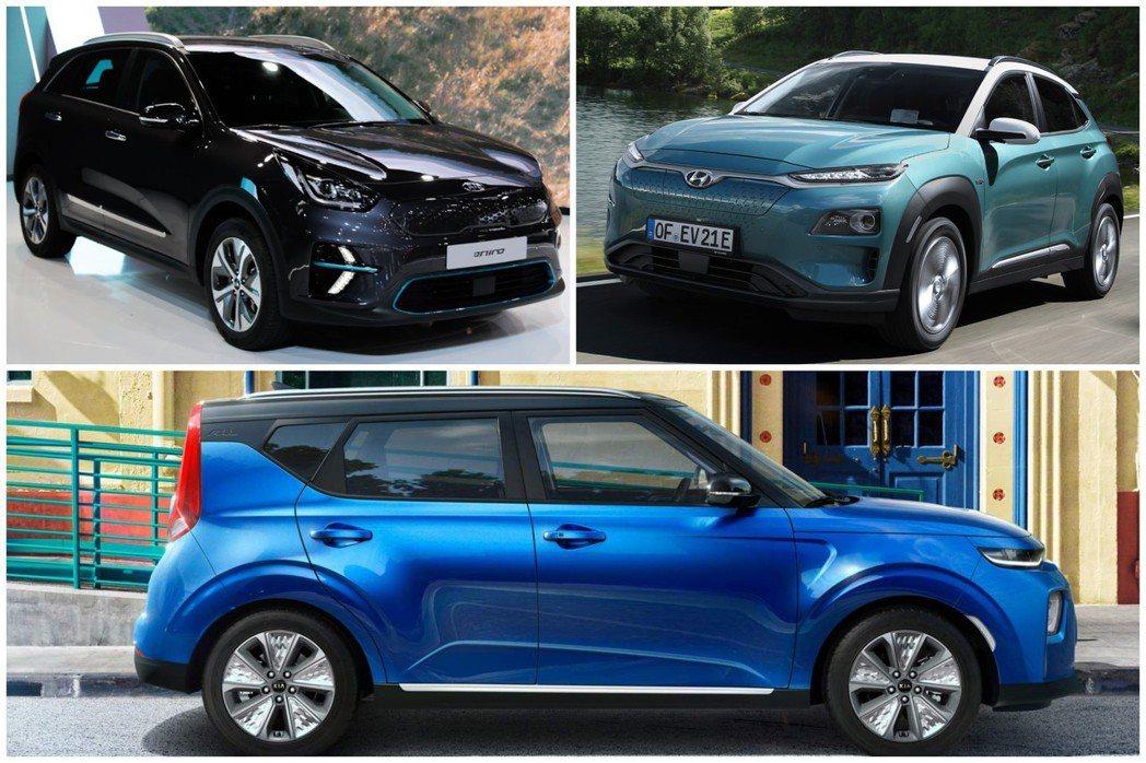 韓系品牌的三大純電休旅Kia e-Niro、Kia e-Soul與Hyundai...