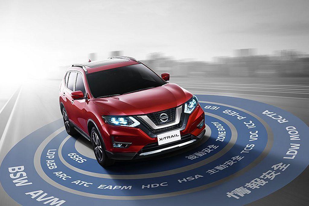 Nissan X-Trail新年式全車系均配備智行科技。 圖/Nissan提供