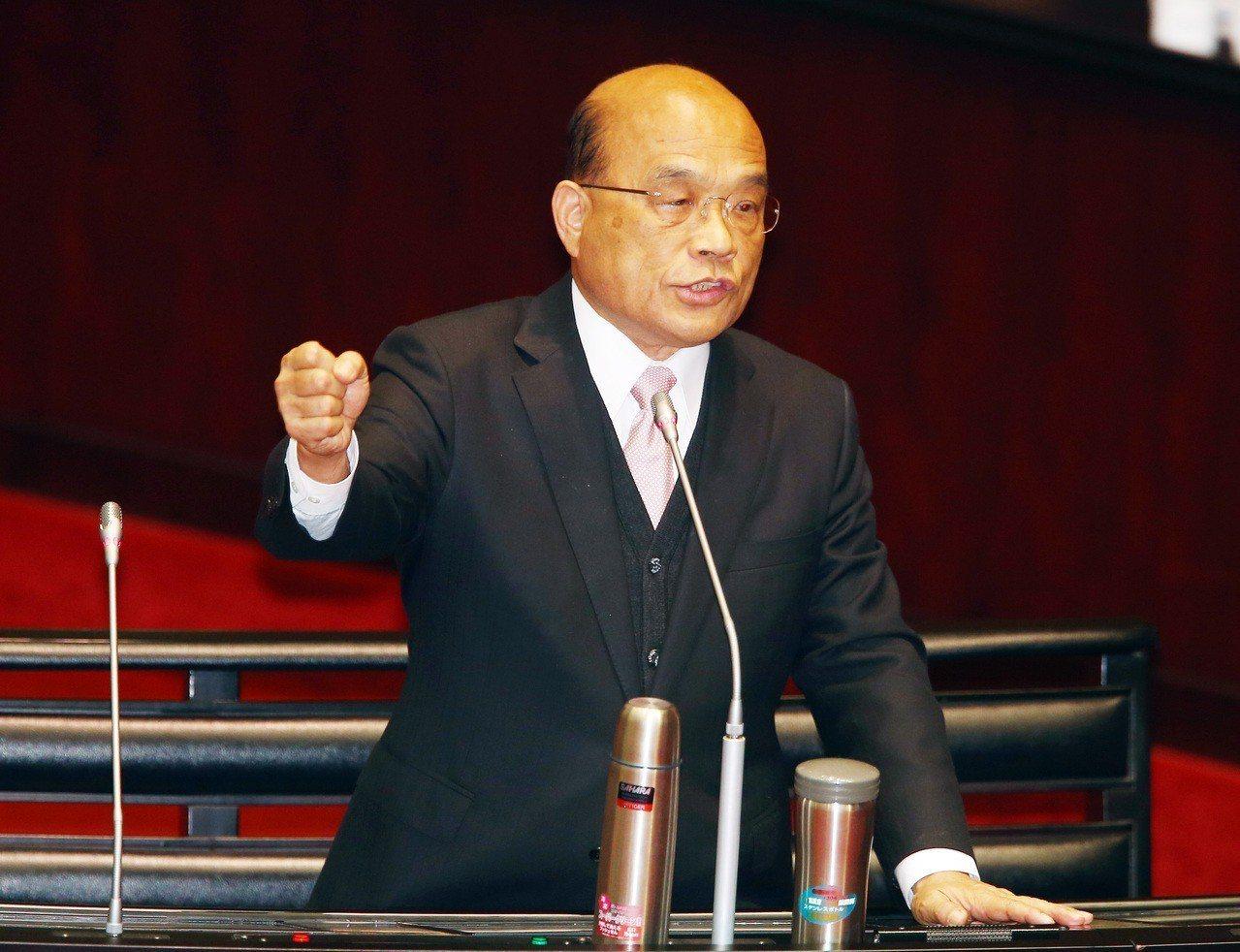 蘇貞昌擔任行政院長後,訴求會做事。 本報資料照