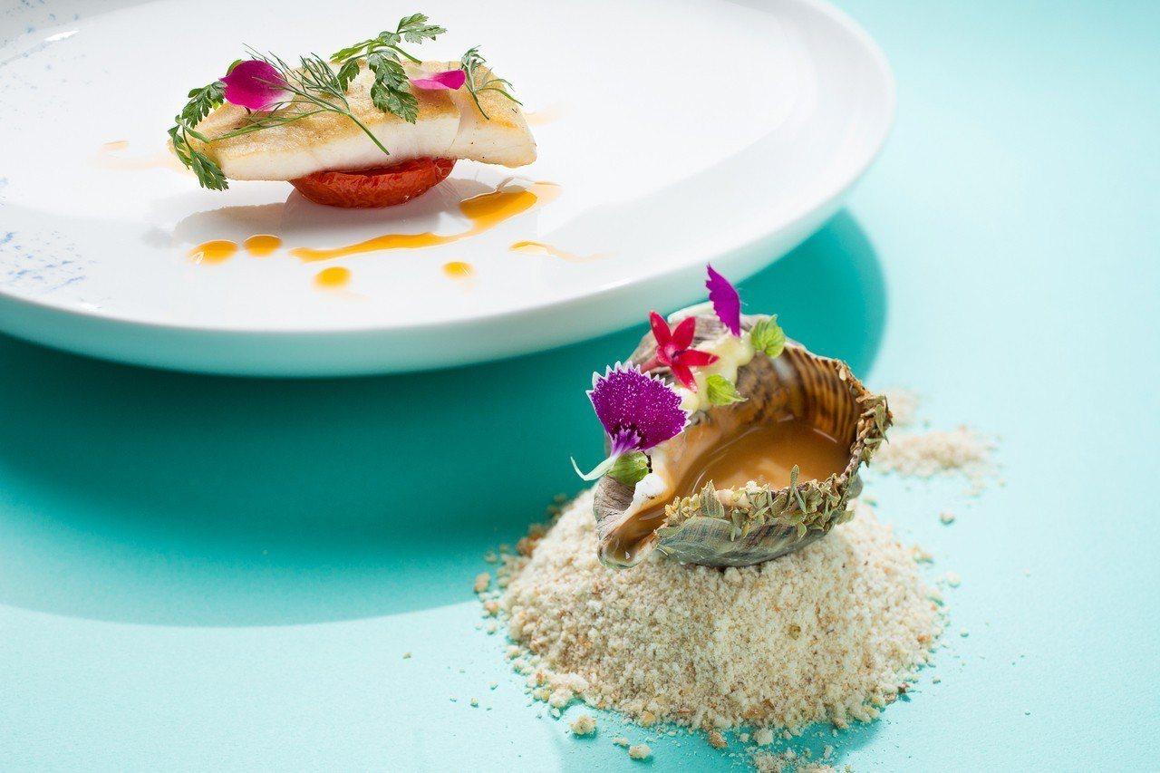 「馬賽老港」是每日到港鮮魚佐馬賽海鮮醬汁。圖/台北君悅酒店提供