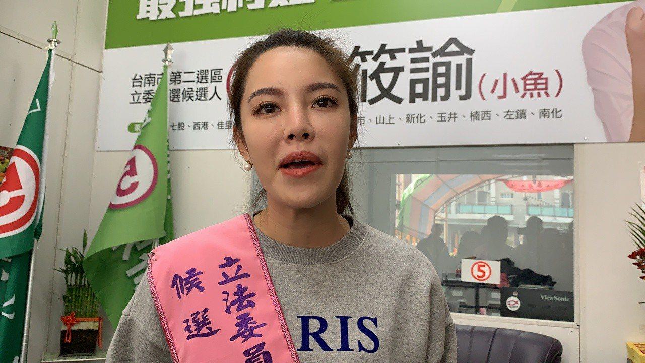 陳水扁支持郭國文 陳筱諭表示是騙選票。記者吳淑玲/攝影