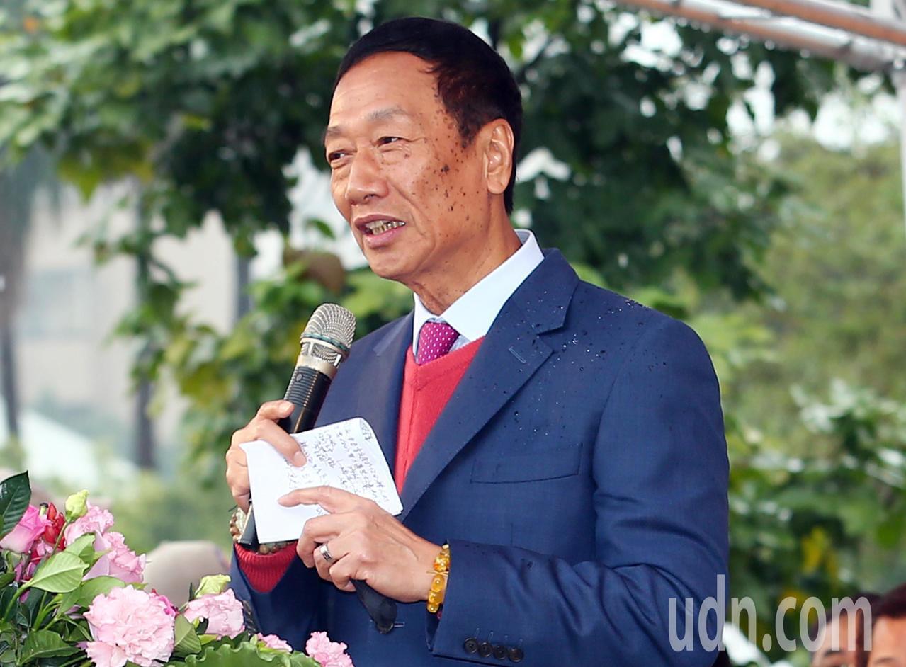 鴻海董事長郭台銘。 聯合報系資料照/記者杜建重攝影