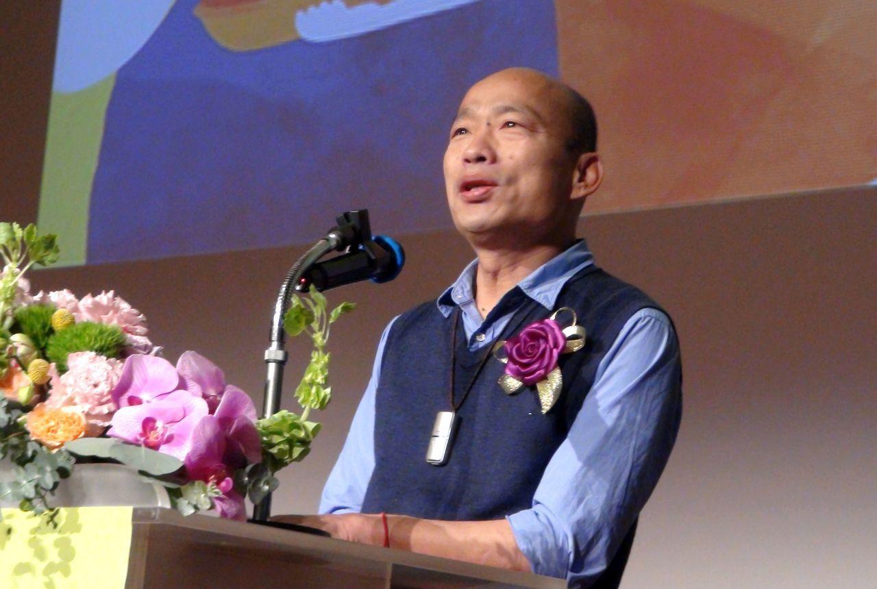 高雄市長韓國瑜今天透過市府發聲明,就日前對菲人用「瑪麗亞」之事道歉。圖/報系資料...