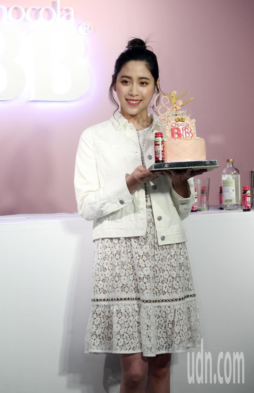 歐陽妮妮下午出席Chocola BB 美妍特調活動。記者曾吉松/攝影