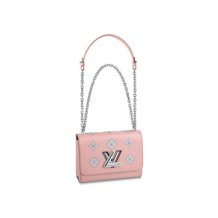 Twist Monogram花卉圍鑲鉚釘包款,售價13萬4000元。圖/LV提供