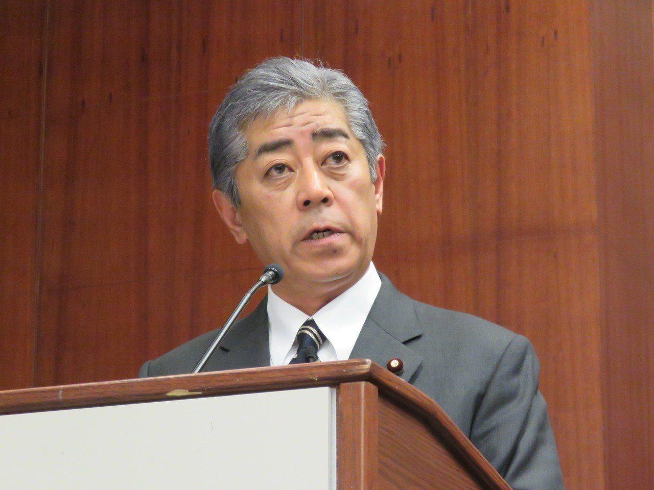 日本防衛大臣岩屋毅。聯合報系資料照片