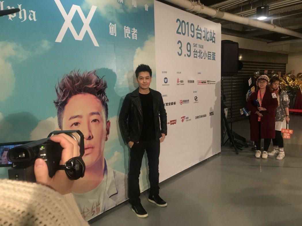 林志穎9日來到台北小巨蛋欣賞潘瑋柏演唱會。記者梅衍儂/攝影