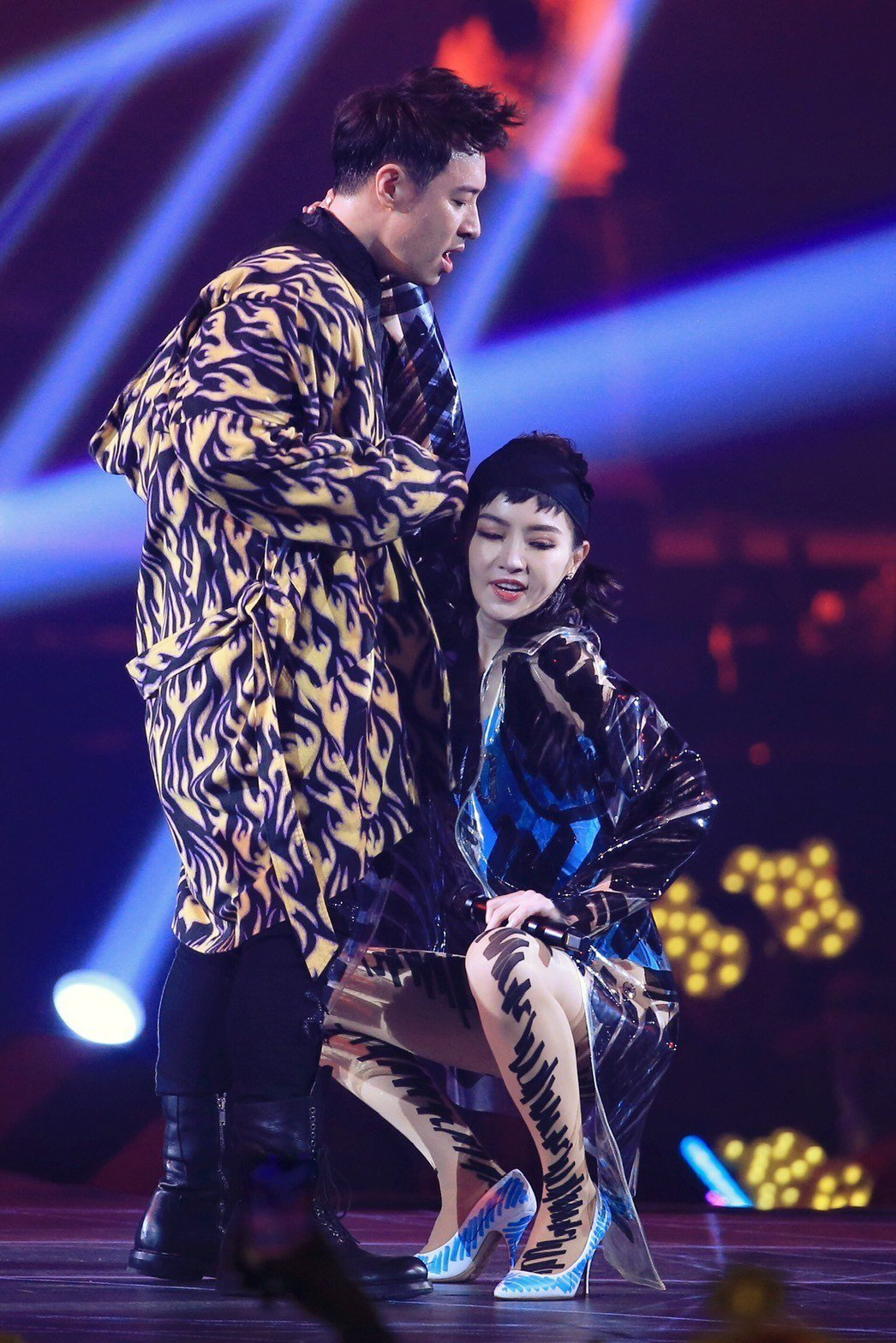 謝金燕擔任潘瑋柏演唱會嘉賓。記者林伯東/攝影