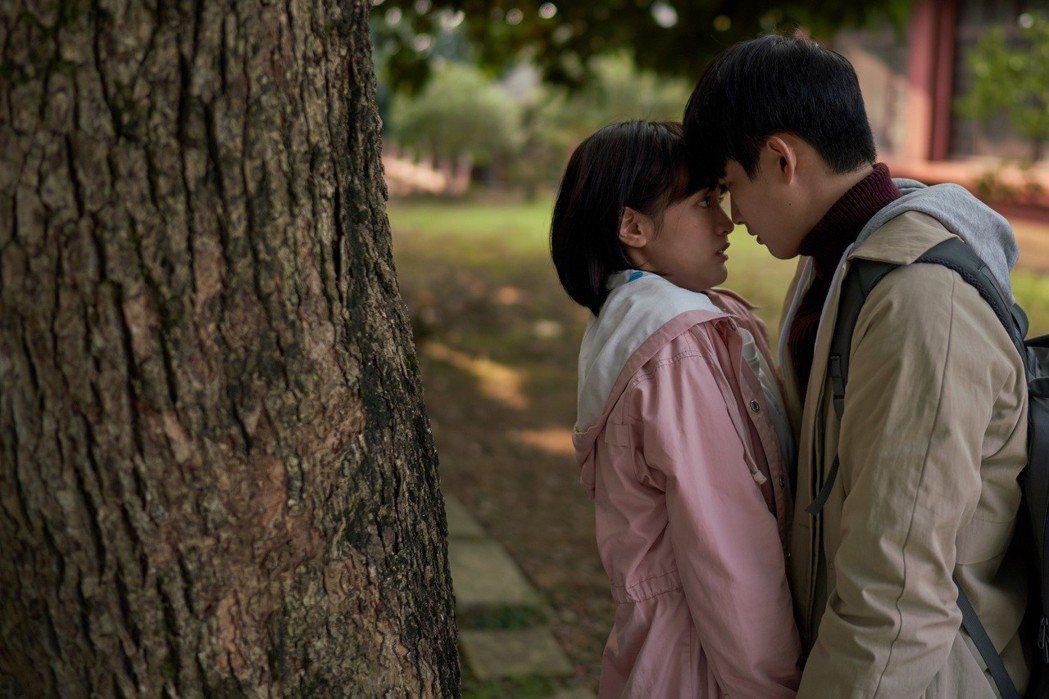 王淨、張庭瑚第一集就上演吻戲,速度超展開。圖/東森提供