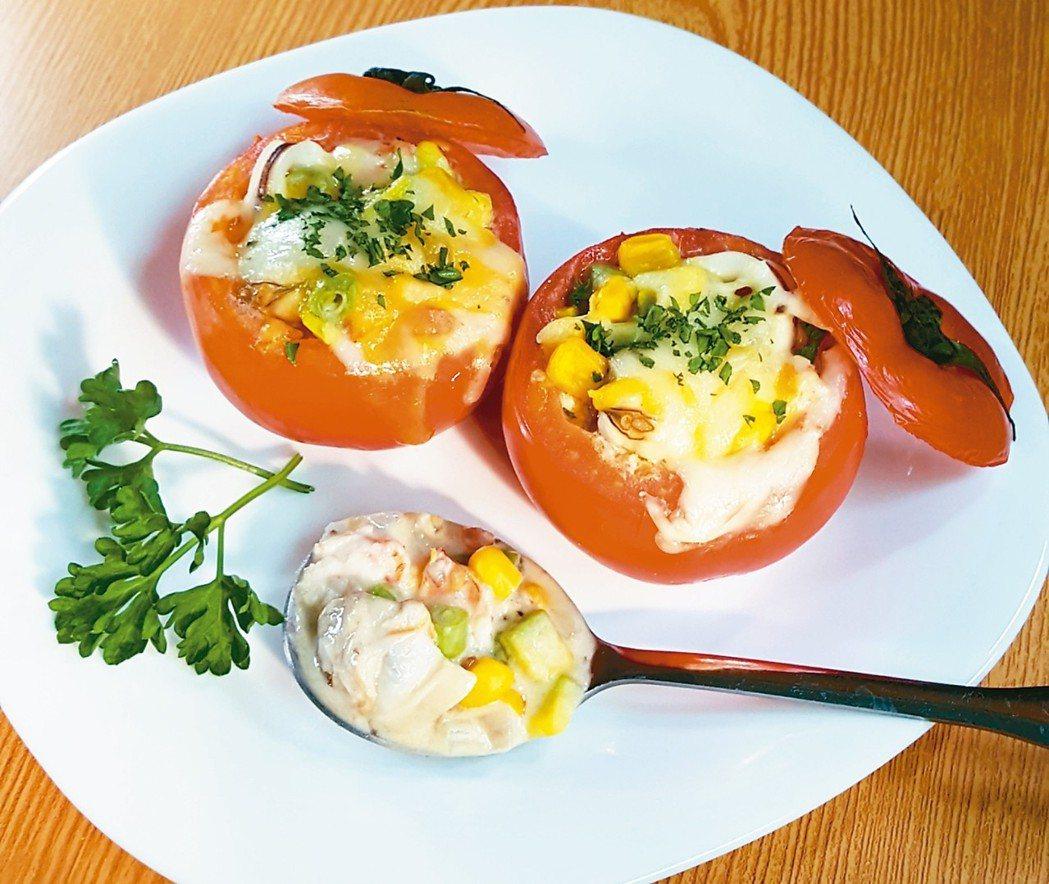 海鮮酪梨沙拉焗番茄