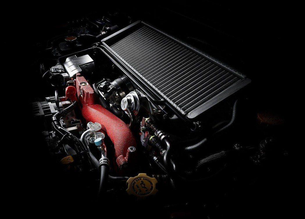 現行STI的EJ257型引擎(日規除外)。 摘自Subaru