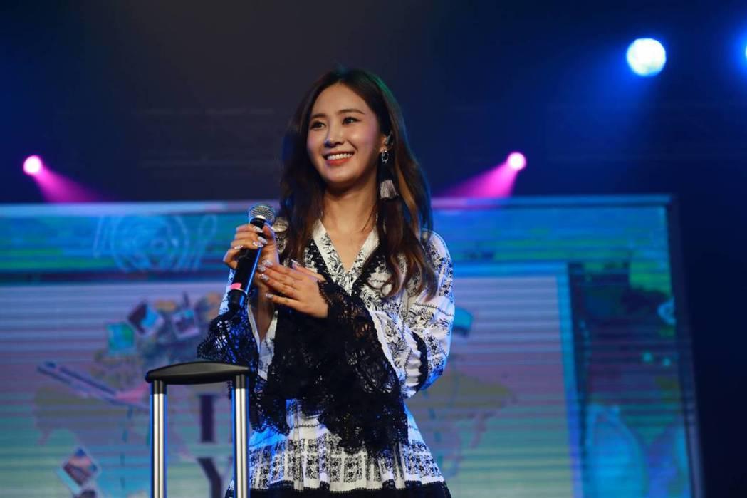 俞利今天演唱少女時代組曲。圖/邦艾波醍娛樂提供