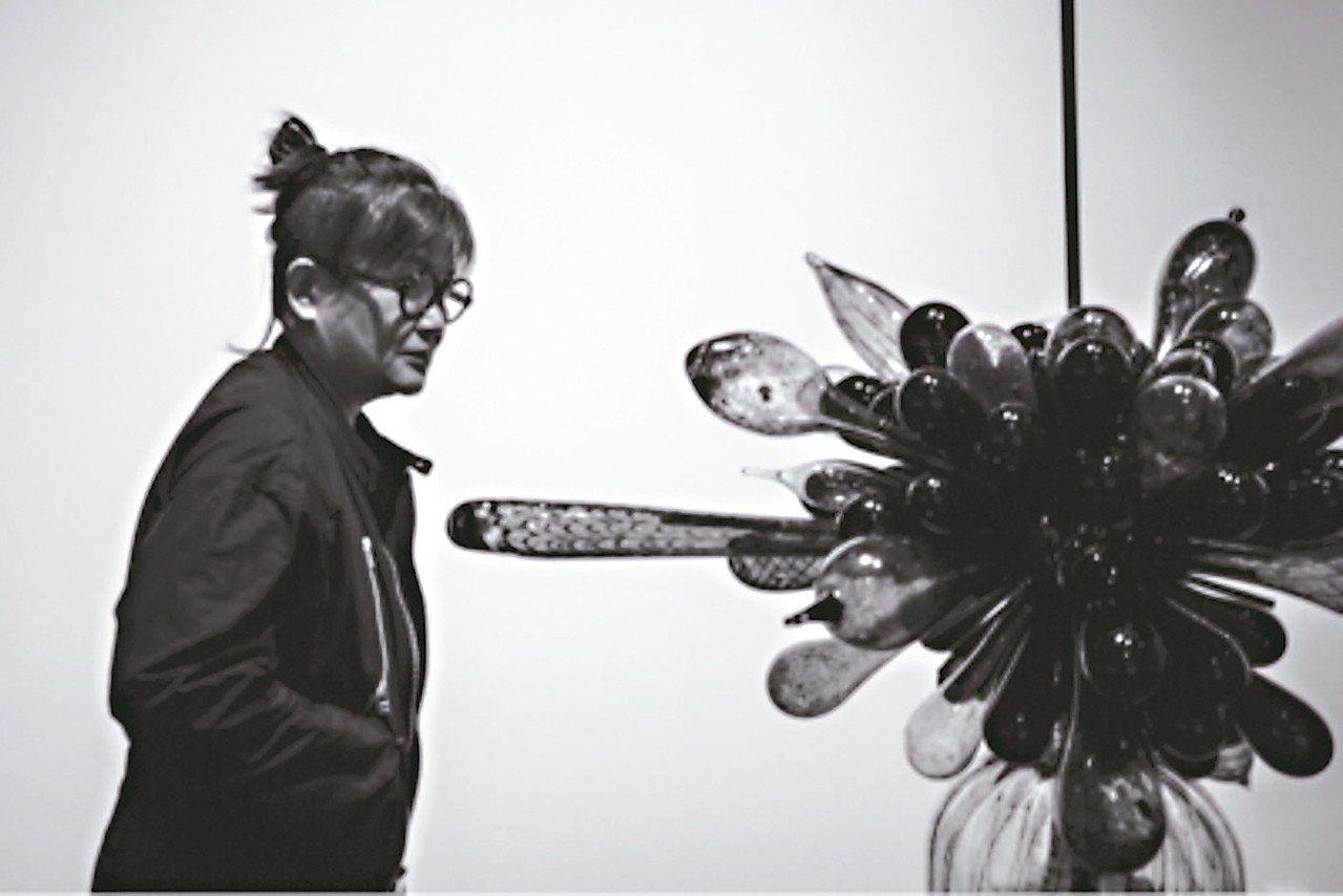 謝素貞將當代藝術帶進銀川。 圖/謝素貞提供