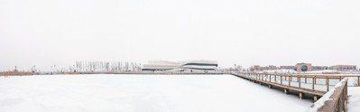 冬天裡的銀川當代美術館。 圖/謝素貞提供