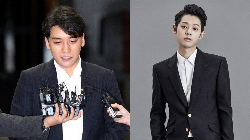 鄭俊英被傳也在勝利群組裡。圖/摘自NEWSIS、SBS