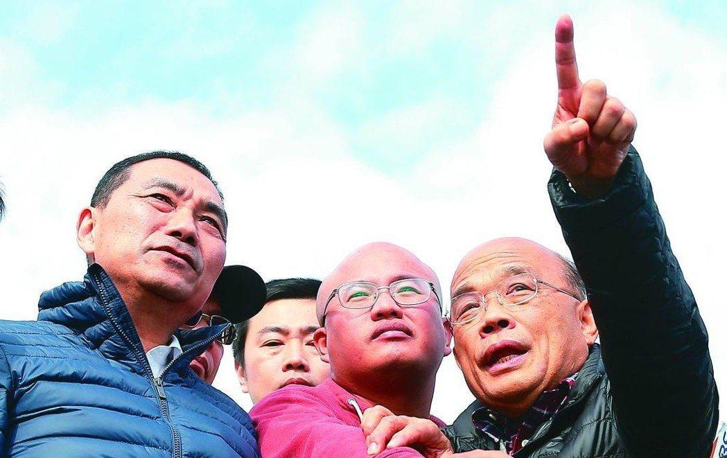 侯友宜(左)與蘇貞昌(右)都曾說過不選新北市長。圖/聯合報系資料照片
