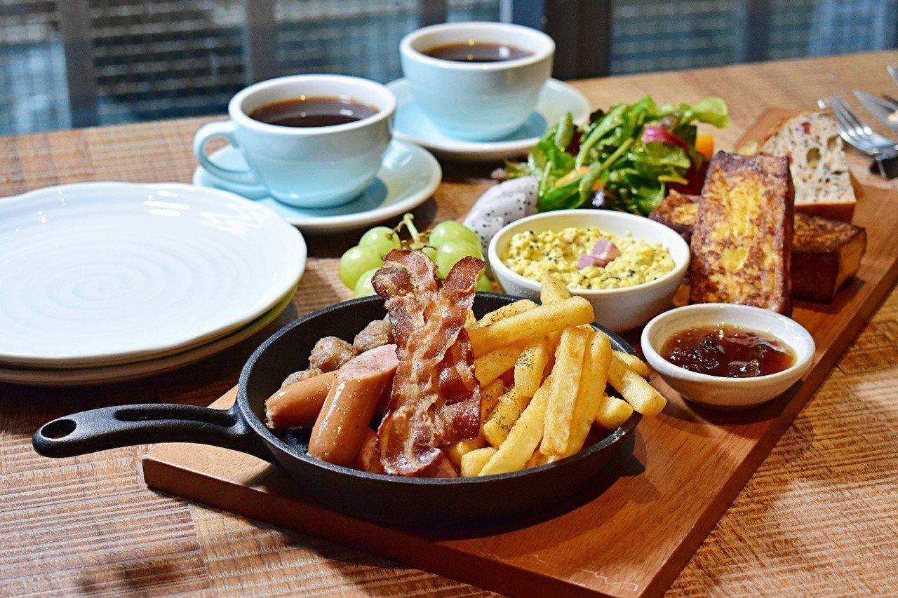 RÒU by T-HAM周末限定雙人早午餐850元。記者魏妤庭/攝影