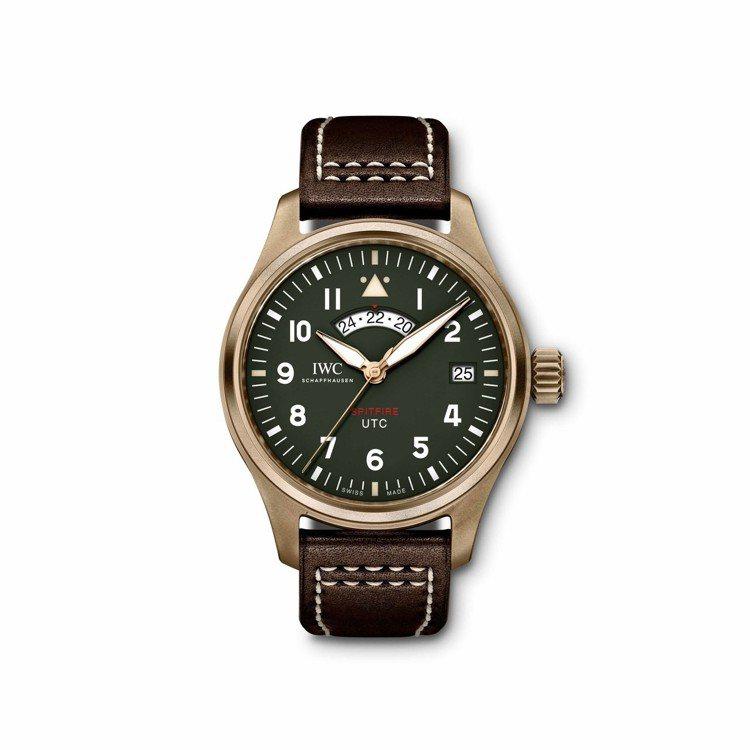 噴火戰機UTC環球時間飛行員腕表「MJ271」特別版,使用很夯的青銅表殼,搭配卡...