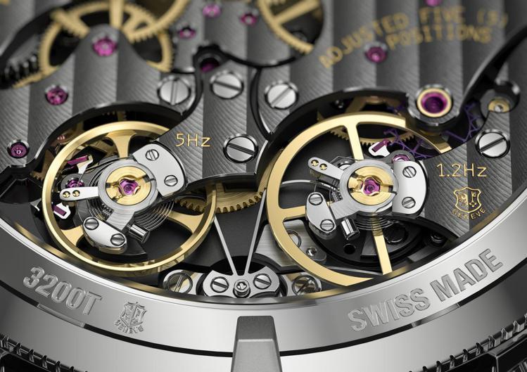從Traditionnelle_TwinBeat萬年曆腕表的底蓋,就可清楚看到,...