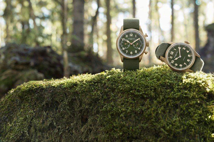 萬寶龍1858系列腕表,採用全青銅表殼,搭配卡其綠表盤,而這也是1858系列首次...