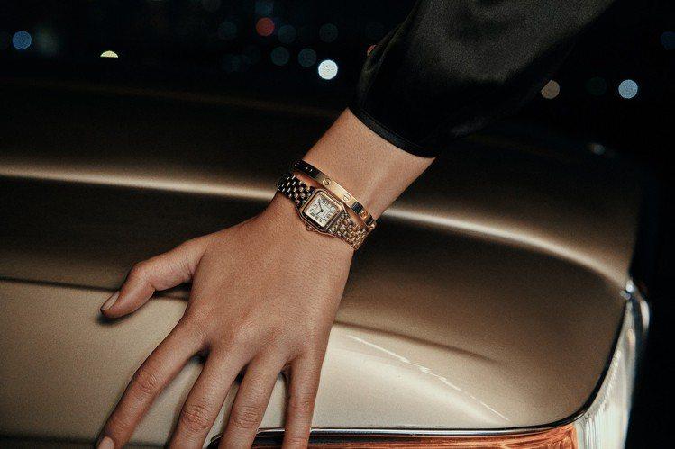 卡地亞Panthère de Cartier美洲豹迷你腕表,18K黃金表殼,搭載...