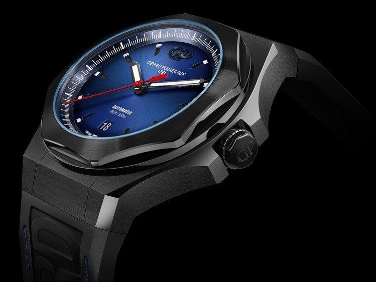 桂冠系列推出了Absolute腕表,有著深藍漸變表盤,設計更為年輕,頗有市場競爭...