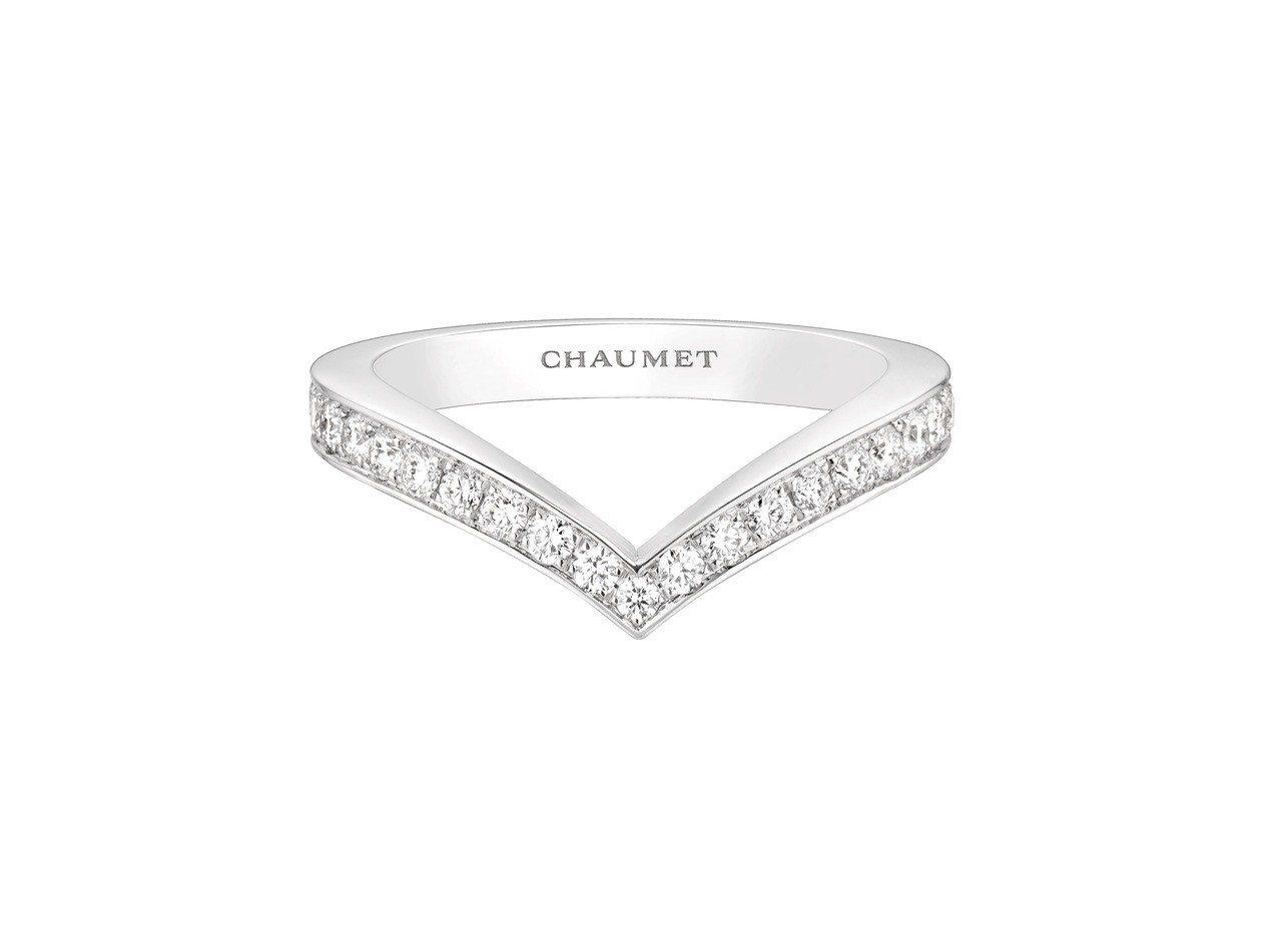 Joséphine系列Aigrette 18K白金鑽戒,鑲嵌明亮式切割鑽石,約1...