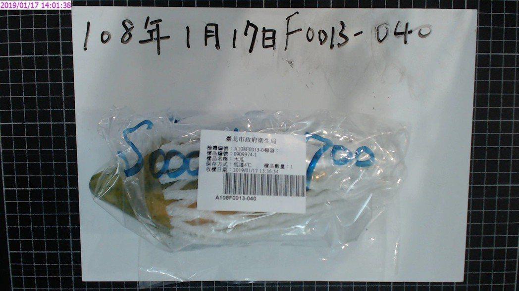 台北市衛生局抽驗農藥殘留量不符規定的蔬果。圖/台北市衛生局提供