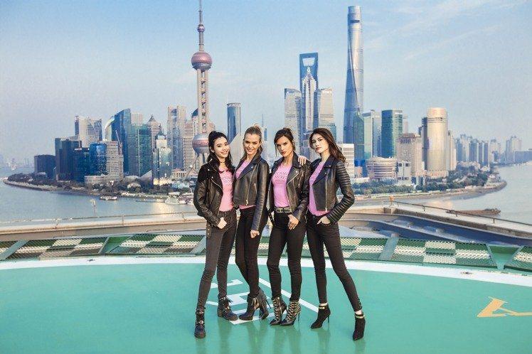 維多利亞的秘密2017年隆重登陸上海,超模奚夢瑤、Josephine Skriv...