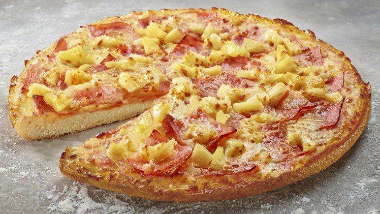 鬆厚比薩2.0,每一口都能吃到滿滿餡料。圖/必勝客提供