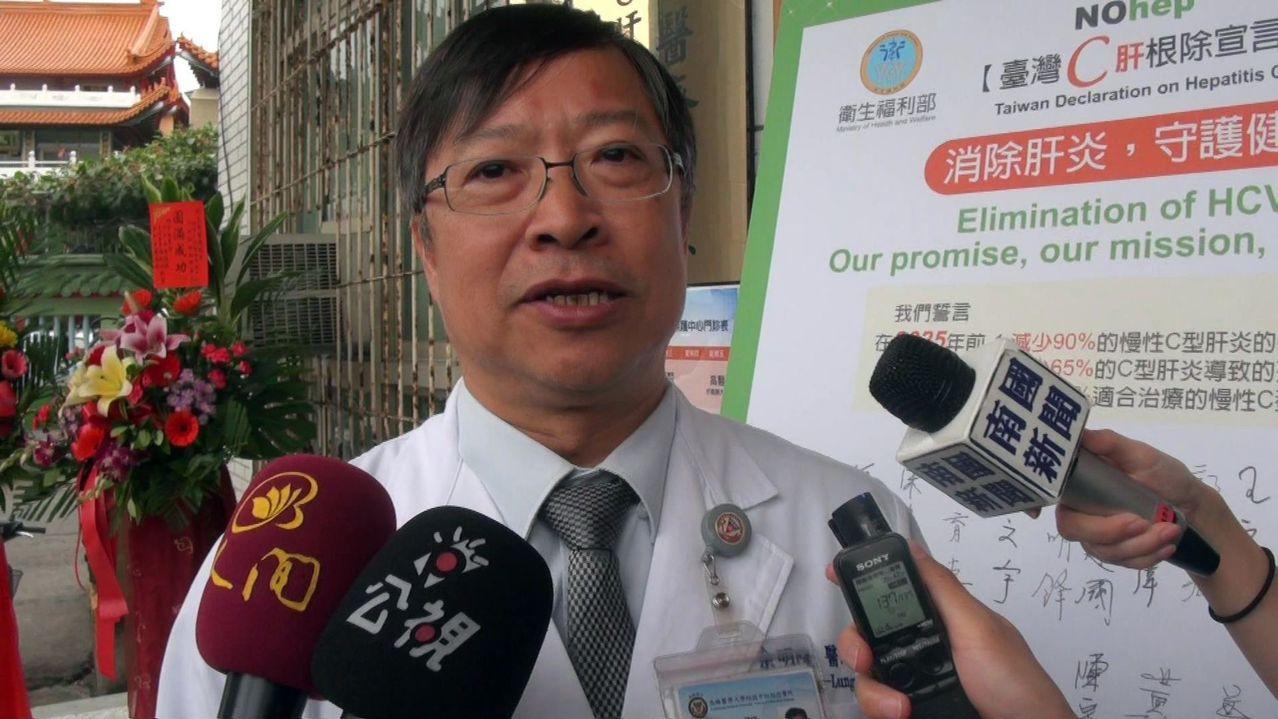 高醫大副校長余明隆(見圖),擔任根除C肝計畫總主持人。記者王昭月/攝影