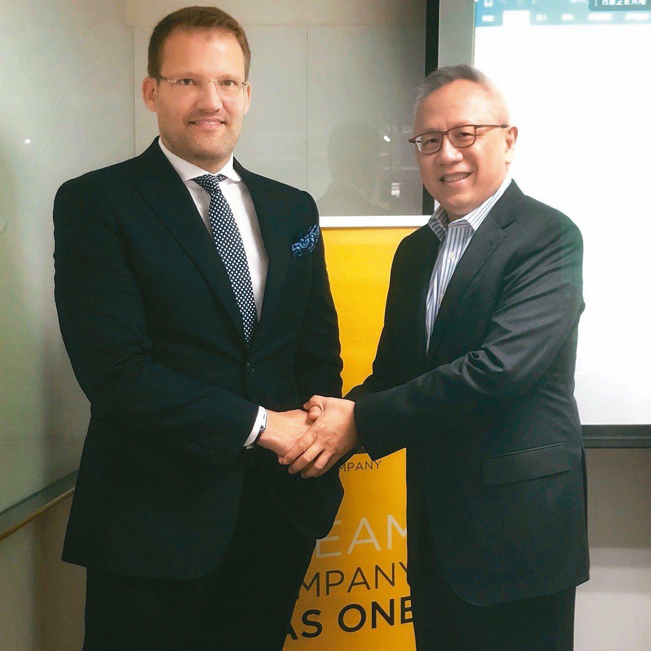 美時董事長韋斯曼(左) (本報系資料庫)
