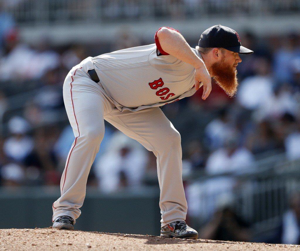 波士頓紅襪隊投手金寶(Craig Kimbrel)。 圖/美聯社