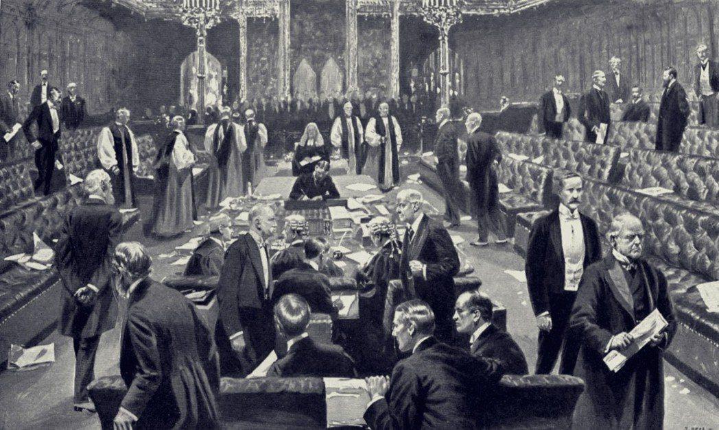 1911年的國會投票。英國政治制度,是以百年前保守黨代表地主以及資產階級、工黨代...