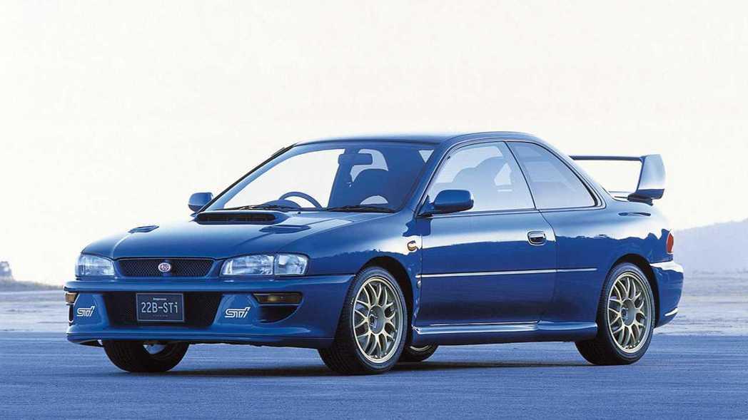 Subaru Impreza 22B STI。 摘自Subaru