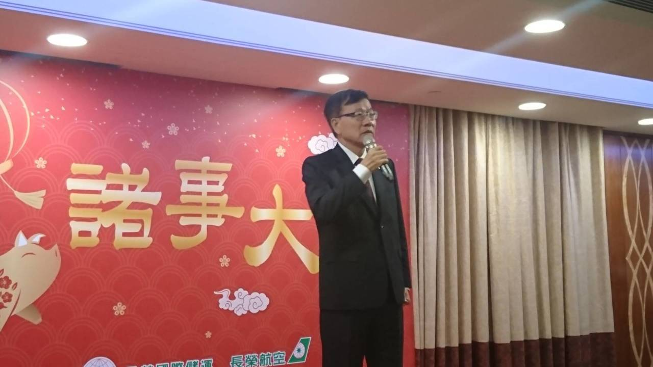 長榮航空董事長林寶水對客運市場展望很樂觀。記者黃淑惠/攝影