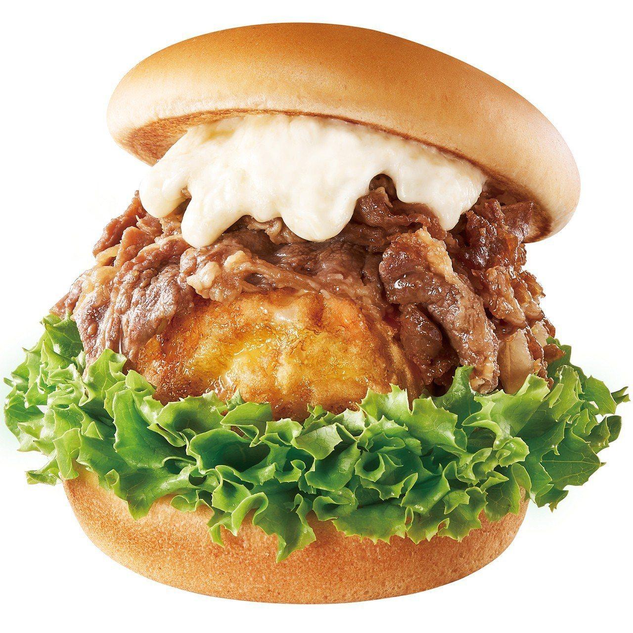日出燒肉蛋堡,售價100元。圖/摩斯漢堡提供