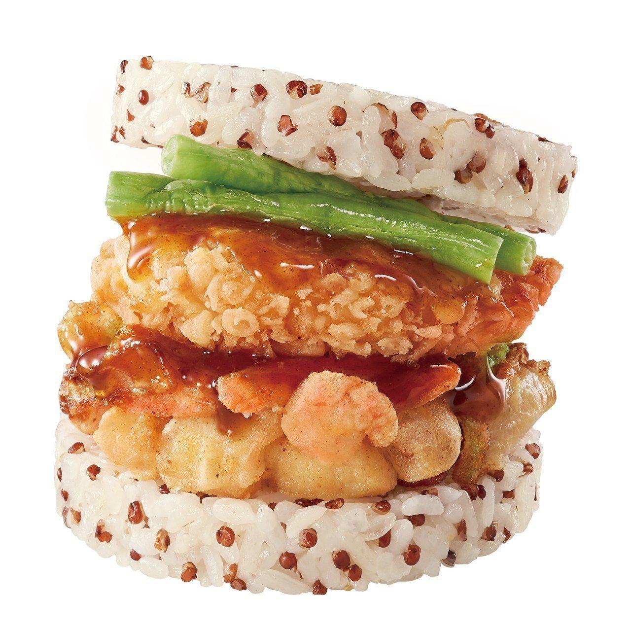 天丼珍珠堡,售價110元。圖/摩斯漢堡提供