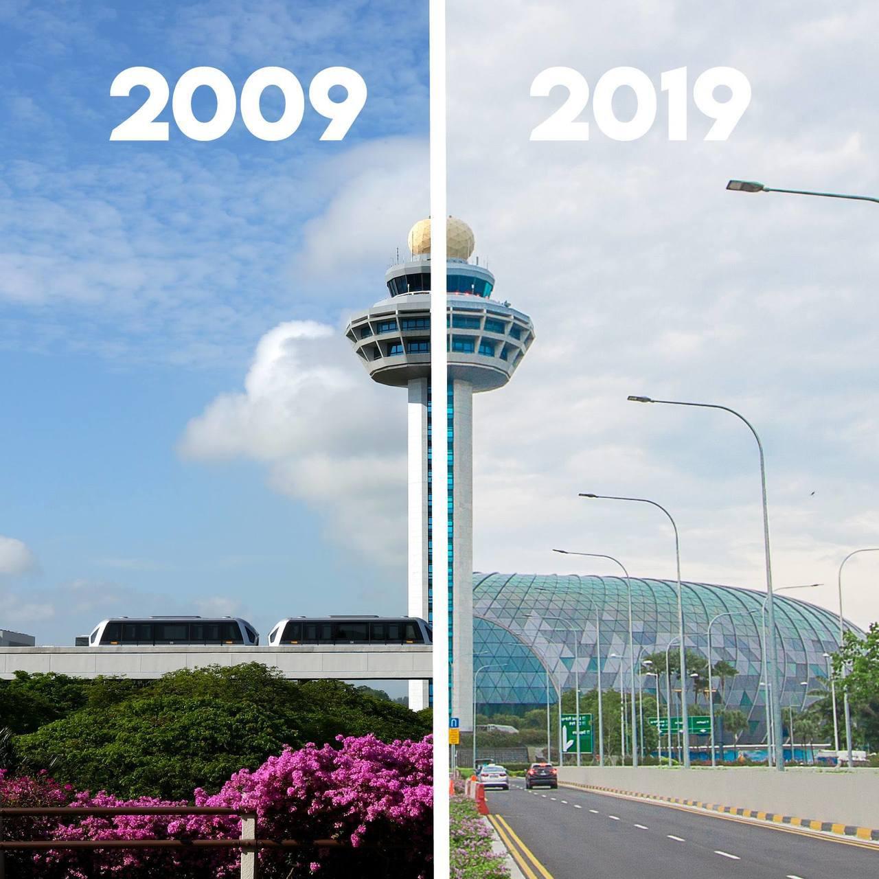 歷經10年,樟宜國際機場不斷突破。圖/摘自Changi Airport臉書