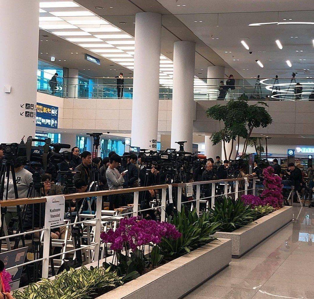 仁川機場現在盛況。圖/摘自微博