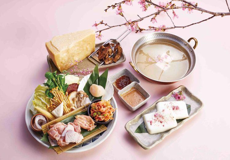 黑毛屋新推出櫻花牛奶飛鳥鍋,每套980元。圖/黑毛屋提供