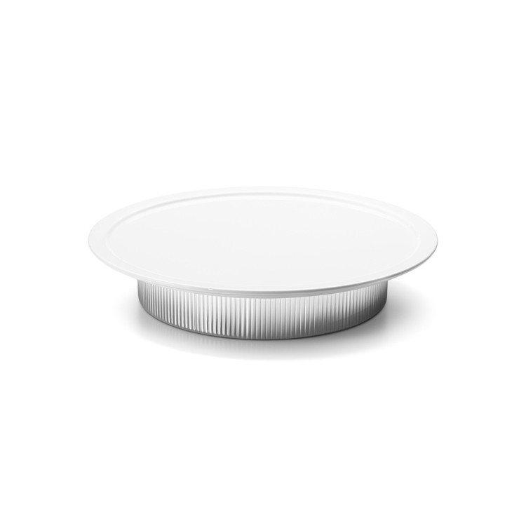 BERNADOTTE不銹鋼白瓷餐盤,4,700元。圖/GEORG JENSEN提...