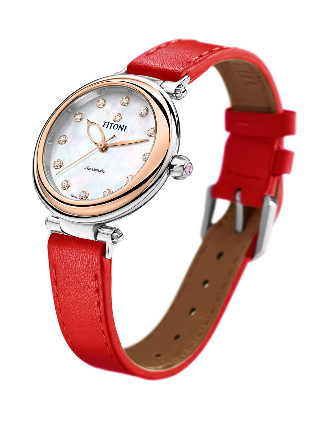Miss Lovely快拆系列腕表,每一款都採用珍珠母貝表盤搭配寶石時標,約35...