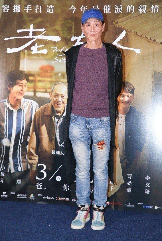 喜翔在「老大人」扮演有奉養父親重擔的長子。記者王騰毅/攝影