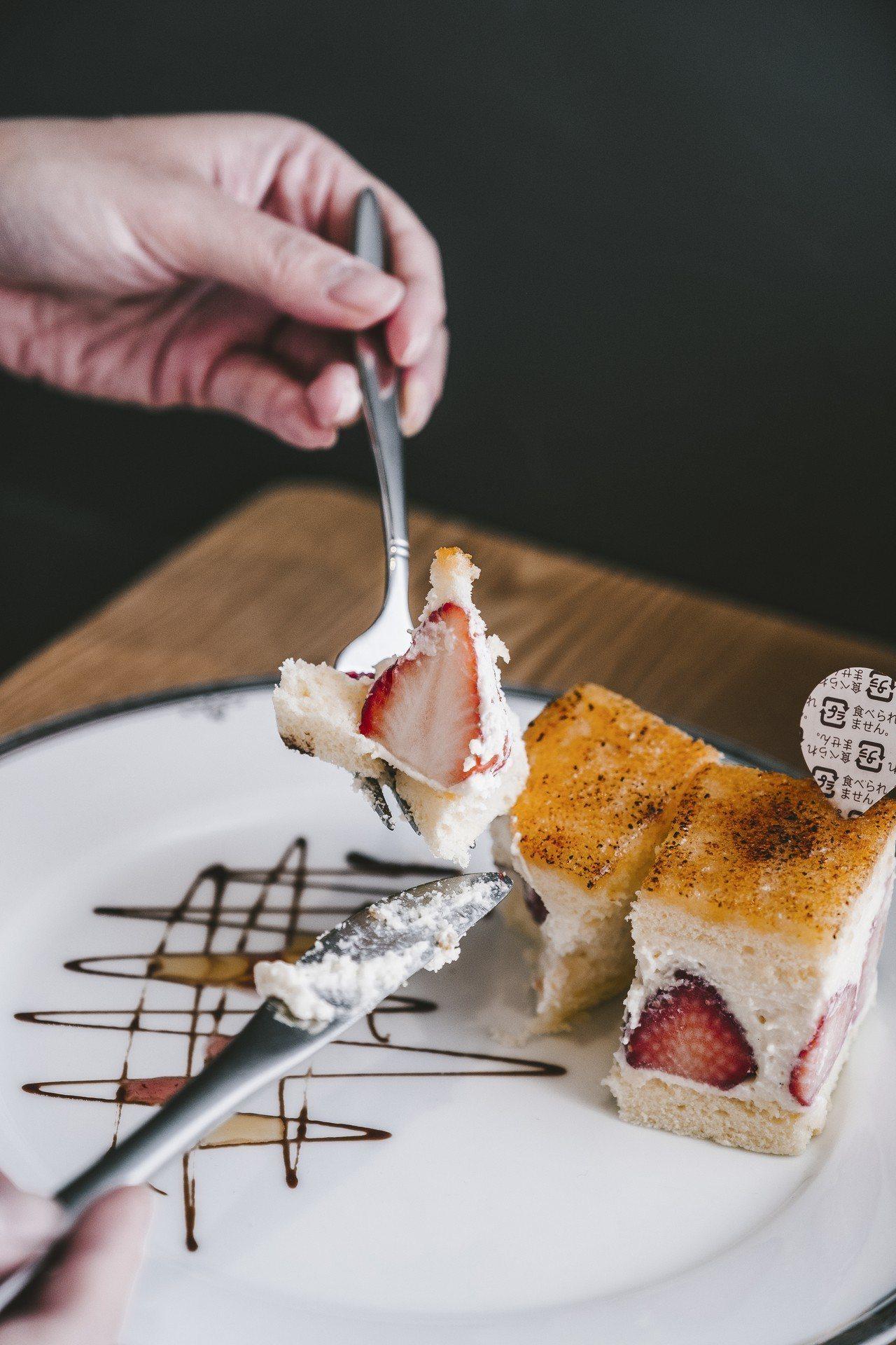 KOBE SWEETS CAFE神戶卡士達奶油蛋糕。攝影/美味拍手