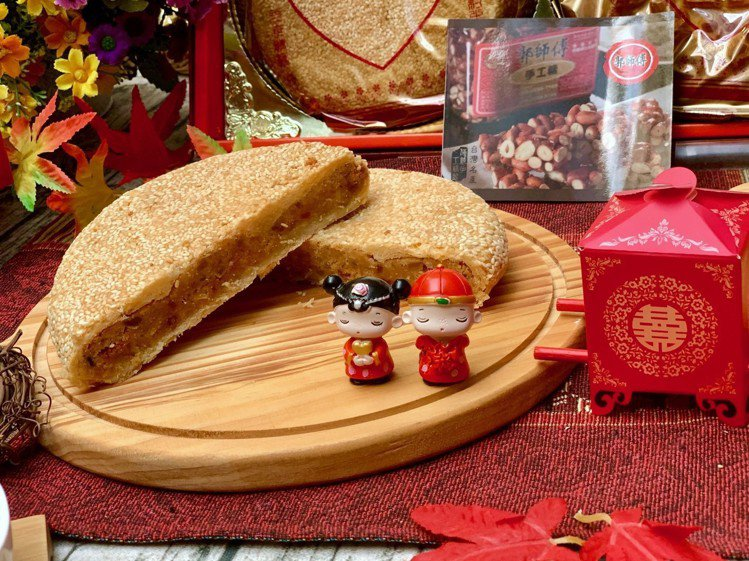 郭師傅食品行展現傳統漢餅。記者張芳瑜/攝影