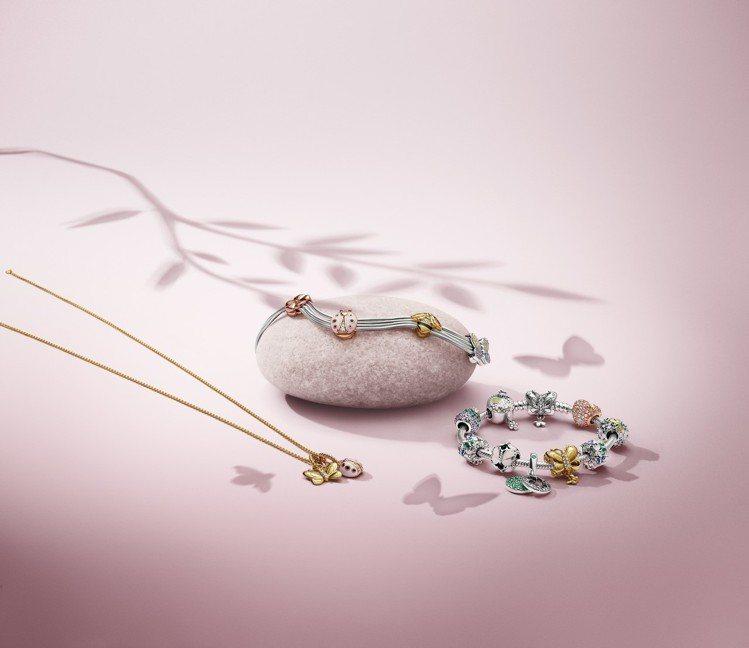 PANDORA讓串珠延伸到戒指、項鍊上。圖/PANDORA提供