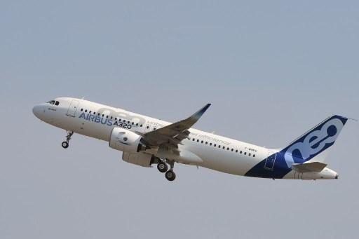 A320neo飛機。法新社